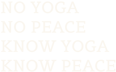 No yoga no peace firkantet footer